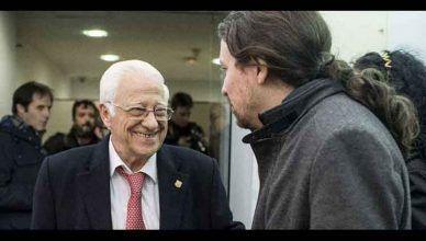 El padre Ángel y Pablo Iglesias