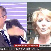 «Eso son datos de ese podemita». Aguirre pacta con Cuatro vetar a Carmona y desacredita los datos oficiales del servicio de salud madrileño